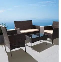 SS FURNITURE Brown 2 Seater Garden Sofa set, For outdoor furniture, 6 Inch