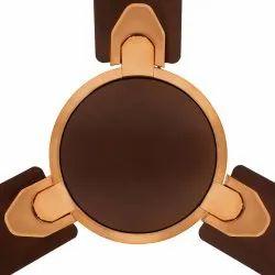 Single Phase Brown Quba Designer Ceiling Fan, Sweep Size: 48 Inch, Fan Speed: 425 Rpm