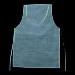 White Plain Disposable Non Woven Apron, Size: 22x28