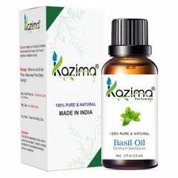 KAZIMA 100% Pure Natural & Undiluted Basil Oil