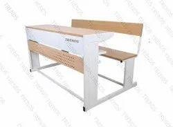 Double Joint College And School Desk Observer - Three Seater