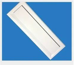 Powder Coated Rectangle Plaque Ceiling Diffuser, For Industrial, Linear