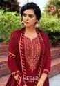 Triple AAA Kesar Vol 5 Jam Silk With Embroidery Work Dress Material Catalog