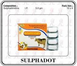Sulphadimidine 5.0gm Bolus, For Animal, Packaging Type: Box