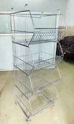 Stainless Steel Slanted Wire Shelving