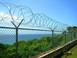 Galvanized Mild Steel Wire MM Secure Concertina Coil Fence