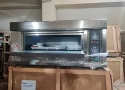 Single Deck Two Tray Pizza Gas Oven
