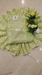 Arihant Fashion Light Green Color Un-stitched Georgetta Suit