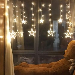 2 Meter Plastic Home Star LED String Light, Battery, 24 V