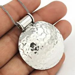 925 Sterling Silver Pendants Without Stone Jewelry, Size: 4 X 3.5 Cm, 8 Gm