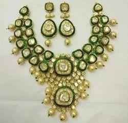 Gold Polki Diamond Necklace