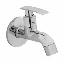 Silver Crox Chrome Plated Brass Short Body Tap, For Bathroom Fitting, Number Of Handles: Single