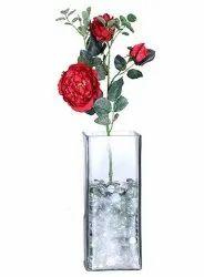 Silk Decorative Artificial Potted Rose