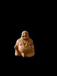 Wooden Laughing Buddha