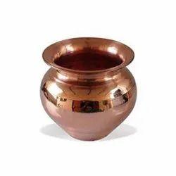 Plain Round Polished Copper Lota