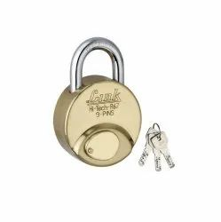 Metal With Key Link Hi Tech R67 Padlock, For Home, Brass