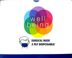 DISPOSABLE 3 PLY FACE MASK (WELL BEING)