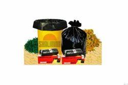 黑色垃圾和废物袋