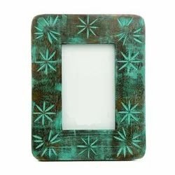 Wooden Brown MANGO WOOD ANTIQUE PHOTO FRAME, For Decoration, Size: 9*7