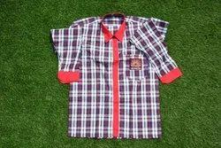 Cotton Check Girls School Shirt, Medium, Age Group: 11 Years