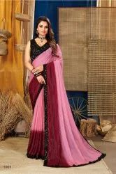 Designer Sequence  Border Saree