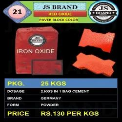 Paver Block Red Iron Oxide