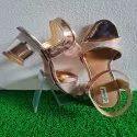 Transparent Heels Rose Gold Sandals