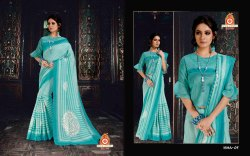 Silk India Party Wear Ladies Printed Saree, 5.5 m (Separate Blouse Piece)