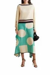 Daily Wear Digital Printed Satin Silk Kaftan for Women Casual Wear