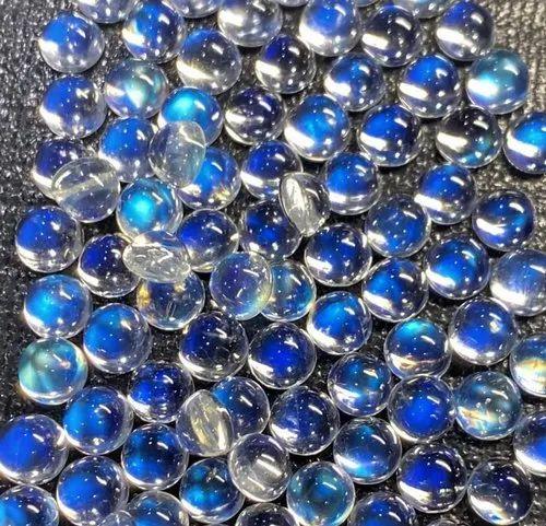 Peach Moonstone Natural Quality Gemstone Size 6 mm Rounded  Shape Cabochon Beads Gemstone