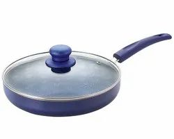 Nirlon Non-Stick Fry Pan Bling Induction Base (With Glass LiD)