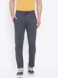Harbornbay Men Charcoal Grey Solid Straight-Fit Track Pants