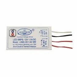 Lightron LED Constant Voltage Strip Driver 12V 1.5A, 65x35x25mm, Output Voltage: 18W