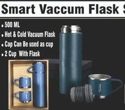 smart vaccum flask with 2 cups