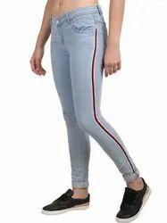 Skinny Button High Waist Denim Jeans For Women