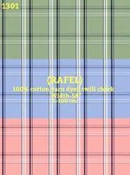 Rafel 100% Cotton Yarn Dyed Twill Check Shirting Fabric