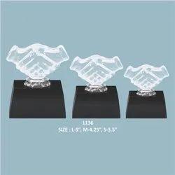 Acrylic Hand Shake Trophy