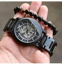Round Luxury(Premium) Armani Automatic Men Watch, For Formal