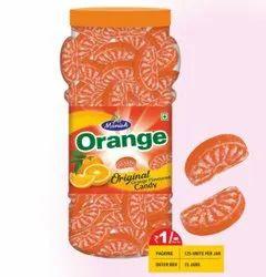 Manish Orange Flavoured Candy, Packaging Type: Plastic Jar
