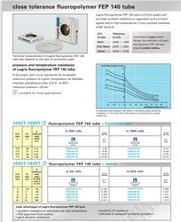 Fluoropolymer Tubing size 4 x 6 (FEP 140)