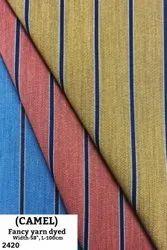 Camel Fancy Yarn Dyed Shirting Fabric