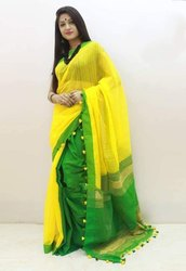 Casual Wear Plain Kusumdola Saree, Without blouse piece, 5.5 m (separate blouse piece)
