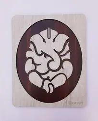 Brown Wooden Ganesh Ji Photo Frame