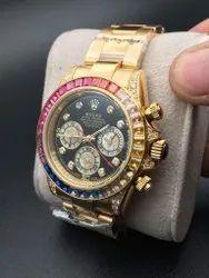 Analog Latest Rolex Rainbow Watch