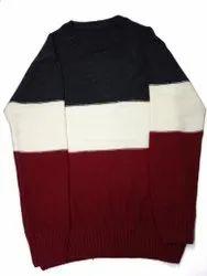 Men Round Neck Cotton Sweater