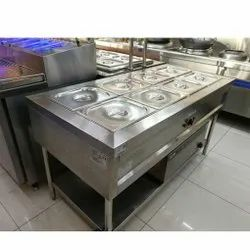 Stainless Steel Pans Bain Marie With 1 Under Shelf