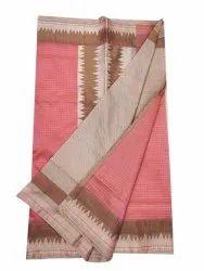 Casual Wear Lining Pink Banarasi Kota Saree, 6.3 m (with blouse piece)