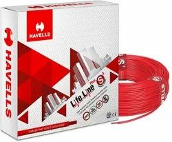 Red Havells House Wire
