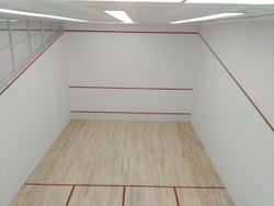 Squash Court Wall Plaster