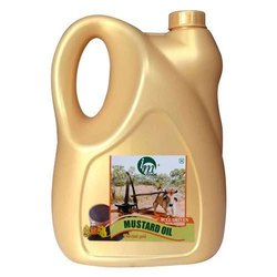 Kachchi Ghani Lowers Cholesterol 5 Liter Bull Driven Cold Pressed Mustard Oil
